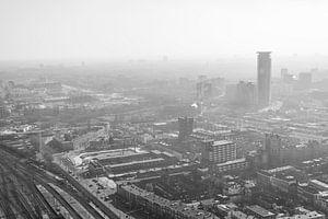 Den Haag vanaf 140m hoogte. van