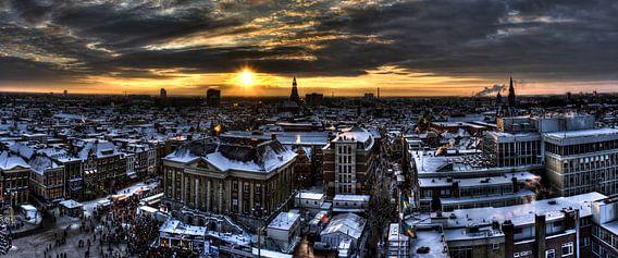 Groningen Winter City 2009 (panorama) van Frenk Volt