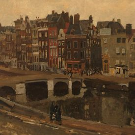 George Hendrik Breitner. Het Rokin in Amsterdam van 1000 Schilderijen