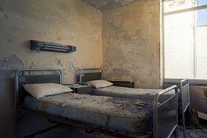 verlassene Krankenhausbetten