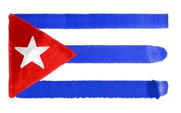 Symbolische Nationalflagge Kubas von Achim Prill