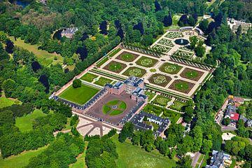Luftaufnahme des Palastes Het Loo bei Apeldoorn von Frans Lemmens