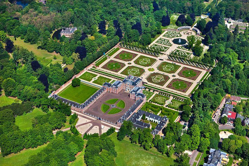 Photo aérienne du palais Het Loo près d'Apeldoorn sur Frans Lemmens