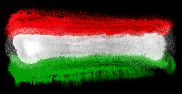 Symbolische Nationalflagge Ungarns von Achim Prill
