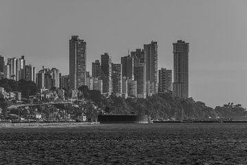 Küste Küste mit den wichtigsten Wohngebäuden im höchsten Teil der Stadt Salvador Brasilien. von Castro Sanderson