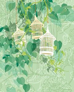 Drie-eenheid in groen van Ingrid Joustra
