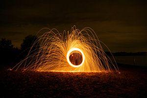 Lichtmalerei, Stahlwolffotografie