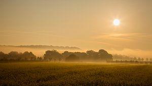 Landschap met zonsopkomst