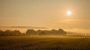 Landschaft mit Sonnenaufgang von Carola Schellekens