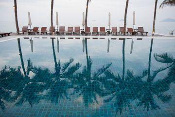 Palmbomen weerspiegeld sur