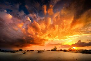 Surrealistische  zonsondergang van