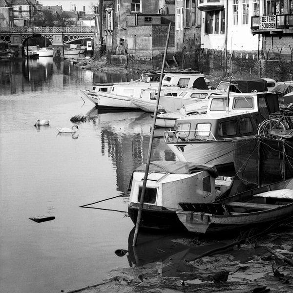 Dordrecht Voorstraathaven (Laag water) van Dordrecht van Vroeger