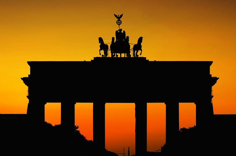 Silhouette de la porte de Brandebourg sur Frank Herrmann