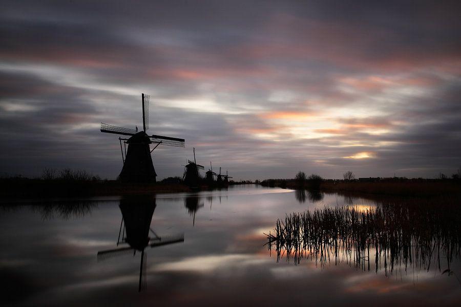 Een vroege ochtend in Kinderdijk