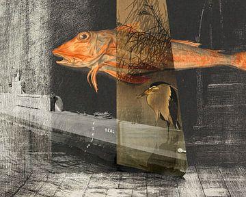 Der Fisch, der Reiher und die Robbe. Die Treppe zum Himmel. von Nop Briex