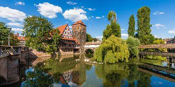 La vieille ville de Sebalder à Nuremberg sur Werner Dieterich