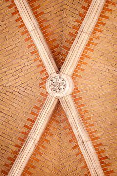 Plafond van het Rijskmuseum in Amsterdam van Victor van Dijk