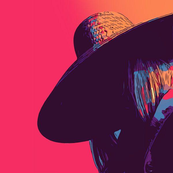 Dame mit Hut - zeitgenössische Kunst - Sommerausgabe von The Art Kroep