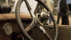 Stuur van een oldtimer