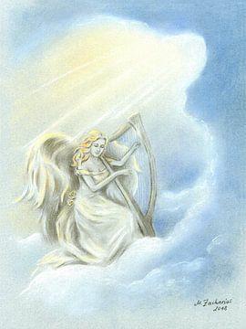 Engel mit Harfe von Marita Zacharias