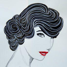 Lady with retro curls van anja verbruggen