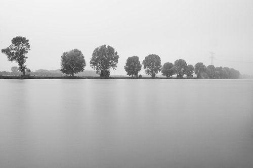 Minimalistische rivier van