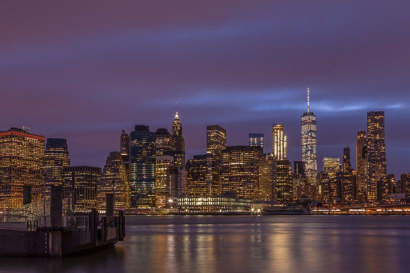 Manhattan Skyline van Rene Ladenius
