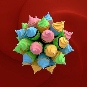 Cupcake Star I van Jörg Hausmann