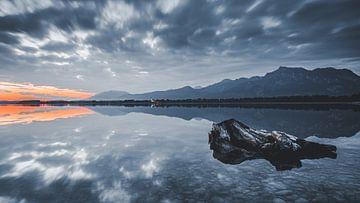 Sonnenaufgang bei Forggensee von Eduard Martin