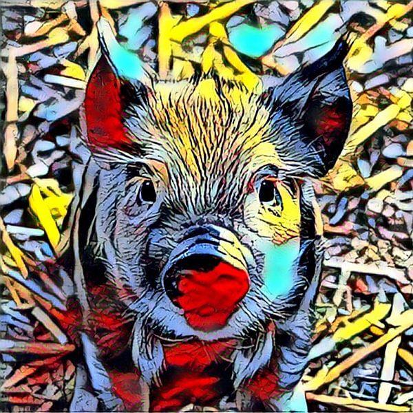 Color Kick Animal - Piglet sur Angelika Möthrath