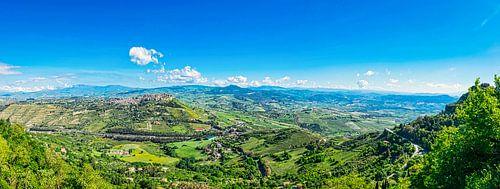 Panorama van Erice, Sicilië