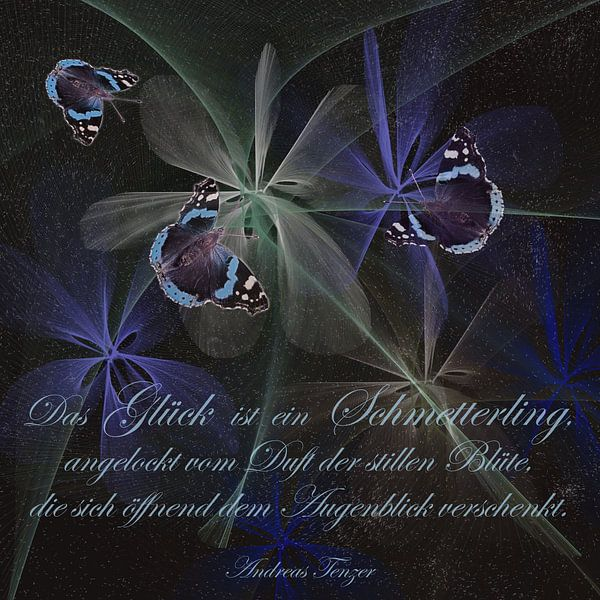 Geluk is een vlinder ...., van Christine Nöhmeier