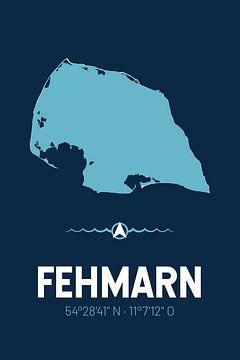 Fehmarn | Design-Landkarte | Insel Silhouette von ViaMapia