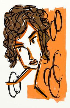 Mädchen Orange 1 von Jolanda Janzen-Dekker