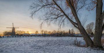 Buren in de sneeuw van Moetwil en van Dijk - Fotografie