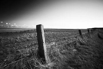Alter Zaun in der Landschaft von Frank Herrmann