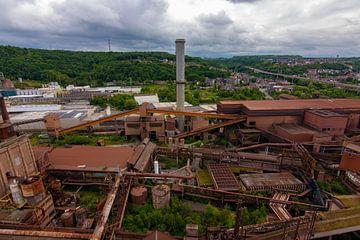 Verlaten staalfabriek van