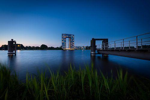 Zonsondergang Tasmantoren Groningen
