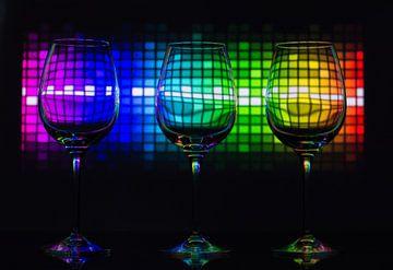 Disco in glas van