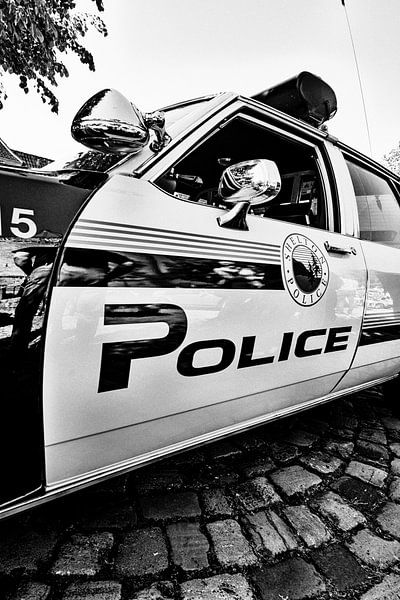 Vintage American Police Car von Edith Albuschat