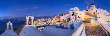 Grieks eiland Santorini in de ochtend van Fine Art Fotografie