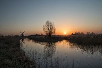 Zonsopkomst bij de Noordermolen van Martin Smit
