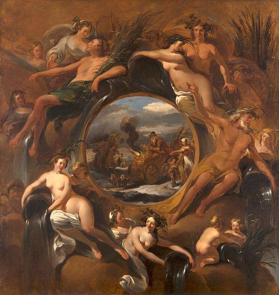 Allegory of Winter, Nicolaes Pietersz Berchem von Meesterlijcke Meesters