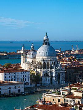 Blick auf die Kirche Santa Maria della Salute in Venedig von Rico Ködder