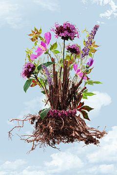Flowers in the sky I van Klaartje Majoor