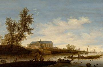 Grote of Sint-Laurenskerk vanuit het noorden, Salomon van Ruysdael van
