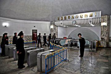 Ingang metro Pyongyang van