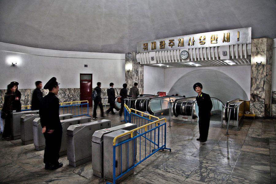 Ingang metro Pyongyang