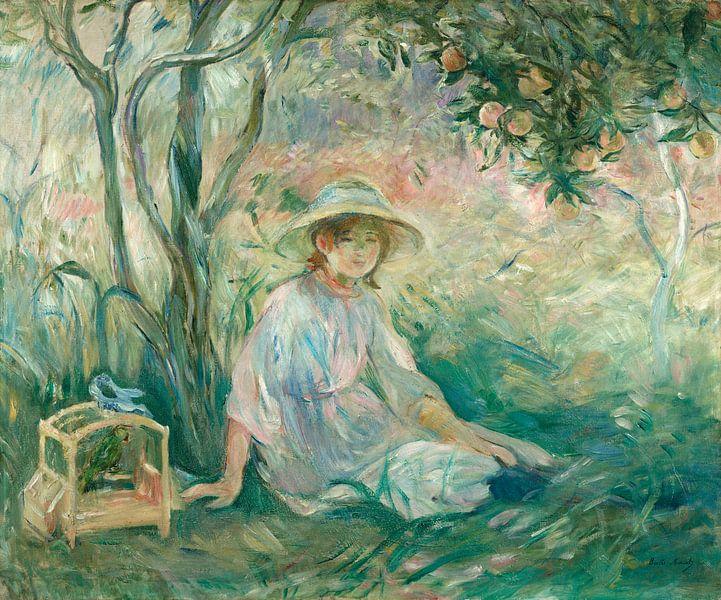 Unter dem Orangenbaum (Sous l'oranger), Berthe Morisot von Meesterlijcke Meesters