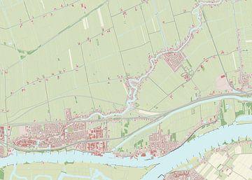 Kaart vanHardinxveld-Giessendam
